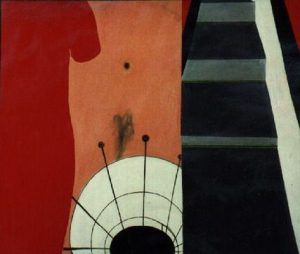 expo hans landsaat 1970 vrouw met rode jurk