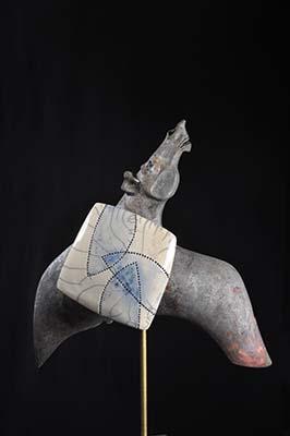 Expo 2016 Lei Hannen Pegasus raku keramiek