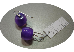 Earring Color Round purple 497px