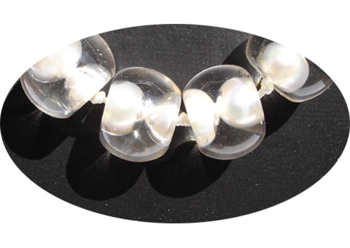 Halsketting bubbling pearls a