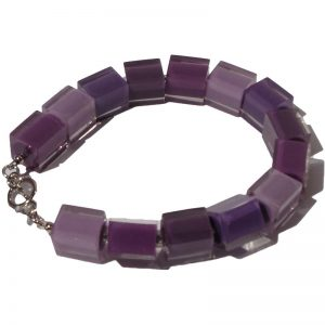 Armband vierkant paars 800px