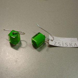 oorbel color cube green 800px