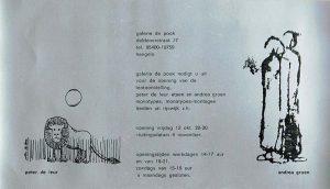 dubbel expo peter de leur en andrea groen 1974 400px