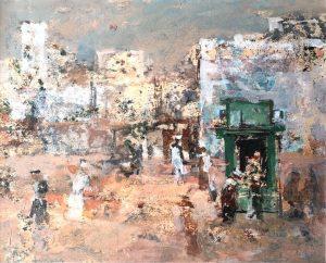 Jan Miechels Egypte muur gouache 16 x195 cm 1978