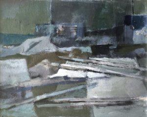 Jan Miechels - acryl op paneel