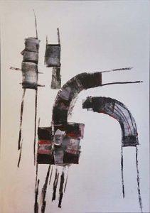 Wim van Oostrom nr 12 - acryl op paneel - 70x50cm