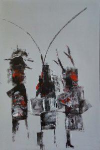 Wim van Oostrom nr 5 - acryl op paneel - 70x50cm