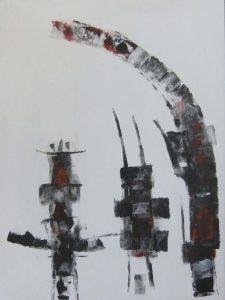 Wim van Oostrom nr 9 - acryl op paneel - 70x50cm