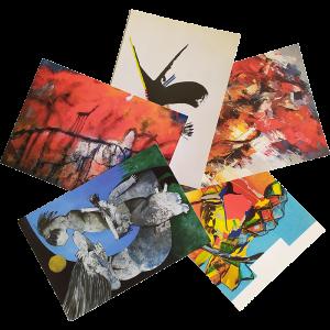 set van 5 kunstkaarten