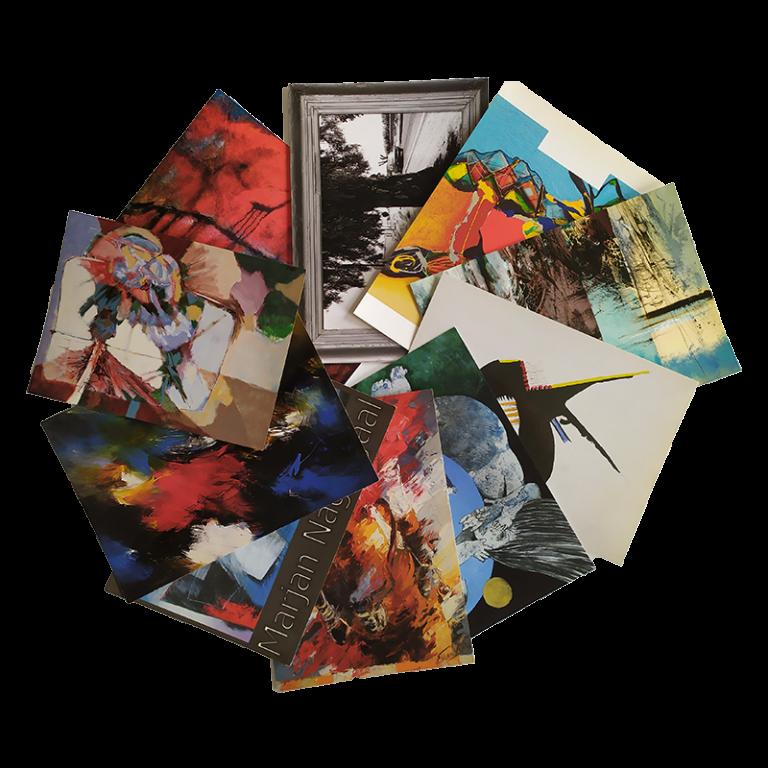 kunstkaarten set van 10