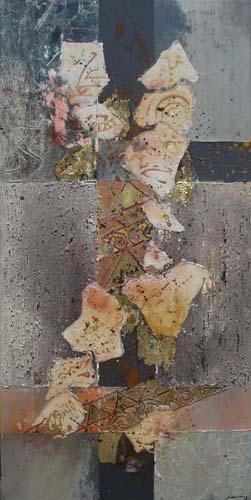 Friederike During-gem techniek op doek 50x100