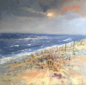 Ruud Brinks Party at the beach 150x150cm 500px