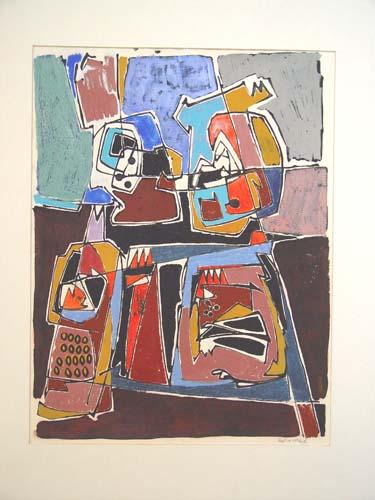0100 - gemengde techniek op papier - 63x48 cm - 1981