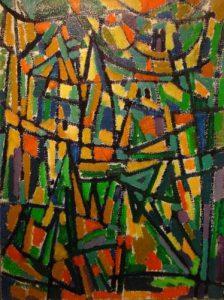0328 - City Life - olieverf op doek - 122x91 cm - 1978