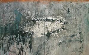 Otto-Oelen-Winterreise #3 - gem techniek op doek - 50x80 cm