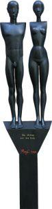 Adam und Eva hout 7x182 cm
