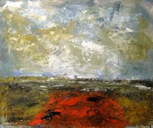 Bollenveld - olieverf op linnen - 50x60 cm