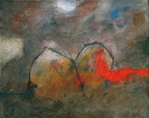 Otto Oelen 16 gem techniek op doek 40x50 cm