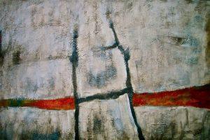 Otto Oelen 3 Eine Winterreise gem techniek op doek 80x120 cm