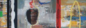 Übergang 2 - 50x150 cm - acryl