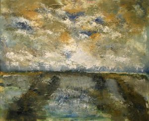 Weide Normandie olieverf op linnen 100x120 cm