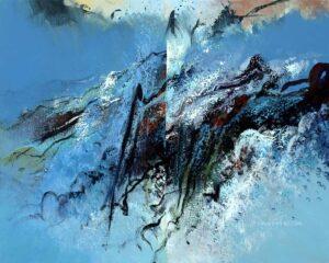 Dramatisch symbool van steen en ijs nr4 2008 80x100cm 625x500px