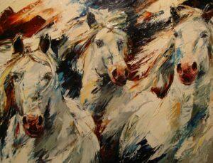 Camarque-paarden 70x90cm-800x610px