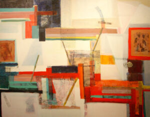Charlotte Lugt-Its Ritm-mixed media-110x140cm