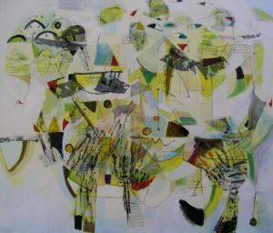 Charlotte Lugt-La Fête au Bois de Boulogne-mixed media-120x140cm