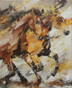 Galoperende paarden 85x70cm 500x414px
