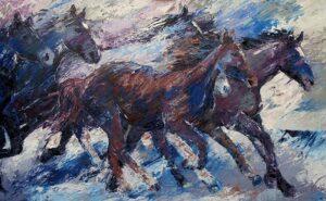 Rennende paarden-100x160cm-494x800px