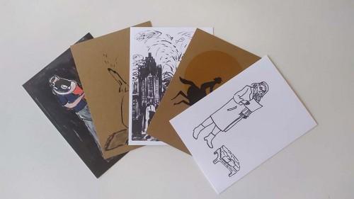 Ansichtkaarten-set van 5